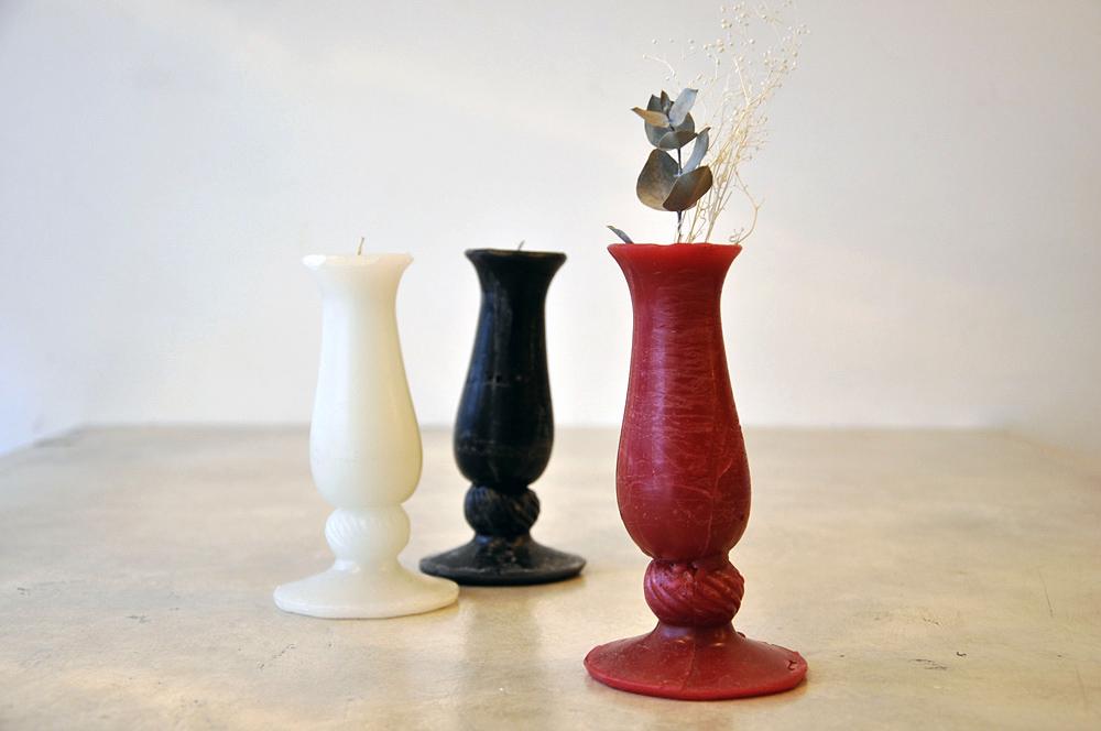 商品名:花器のキャンドル / 価格:¥3,000- / Nonius